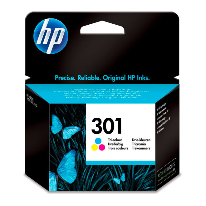 HP 301 Tri-color Original Ink Cartridge, tinta, cca 165 ispisa, Original [CH562EE#BA3]