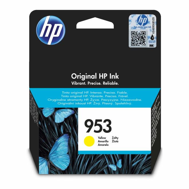 HP 953 Yellow Original Ink Cartridge, tinta, cca 700 ispisa, Original [F6U14AE#BGX]