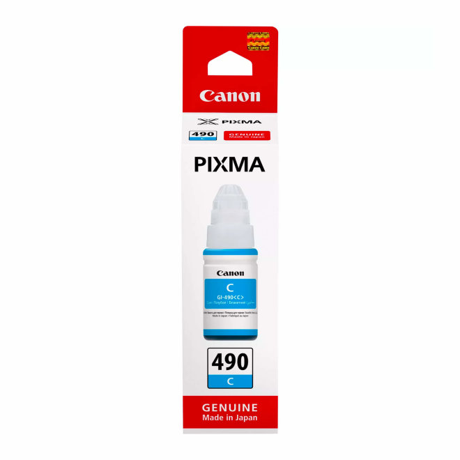 Canon GI-490 Cyan Ink Bottle, tinta u boci, cca 7.000 ispisa, Original [0664C001]