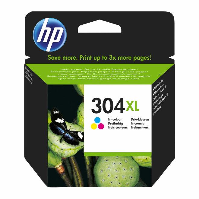 HP 304XL Tri-color Original Ink Cartridge, tinta, cca 300 ispisa, Original [N9K07AE#BA3]
