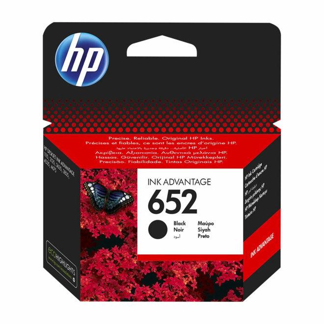 HP 652 Black Original Ink Advantage Cartridge, tinta, cca 360 ispisa, Original [F6V25AE#BHK]