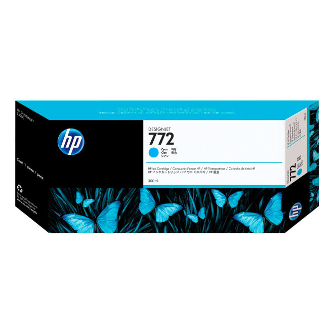 HP 772 300-ml Cyan DesignJet Ink Cartridge, tinta, Original [CN636A]