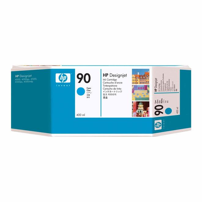 HP 90 400-ml Cyan DesignJet Ink Cartridge, tinta, Original [C5061A]