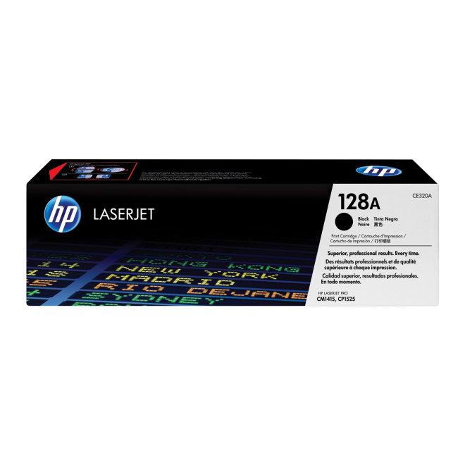 HP 128A Black Original LaserJet Toner Cartridge [CE320A]