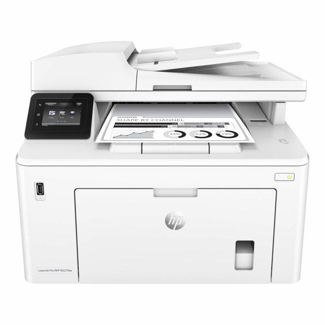 HP LaserJet Pro MFP M227fdw Printer, višefunkcijski pisač, laserski ispis C/B, A4, WiFi, Ethernet, USB, ADF, Duplex, Apple AirPrint, HP ePrint, Touchscreen, 60 – 163 g/m² [G3Q75A#B19]