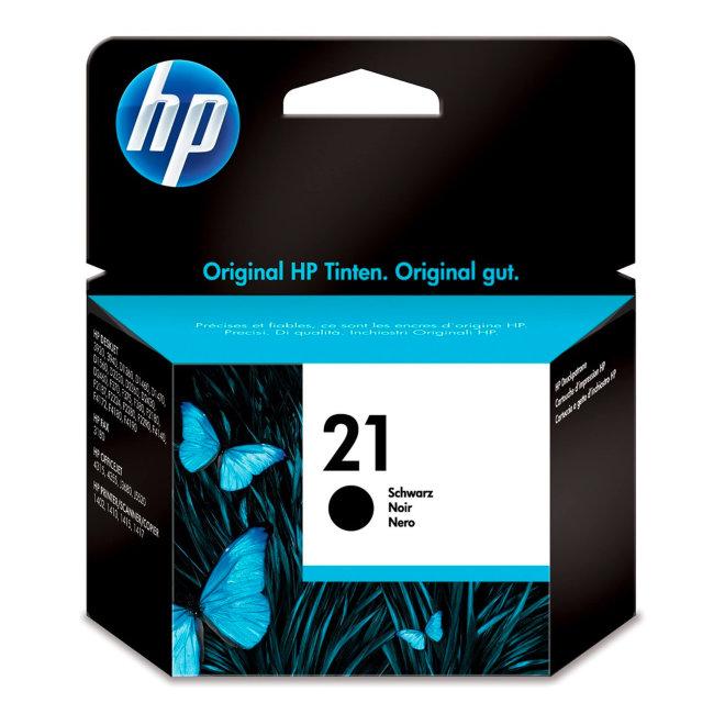 HP 21 Black Original Ink Cartridge, tinta, cca 190 ispisa, Original [C9351AE#UUQ]
