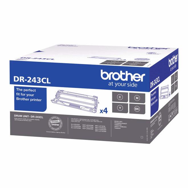 Brother DR-243CL, bubanj jedinica x 4, cca 18.000 ispisa, Original [DR243CL]