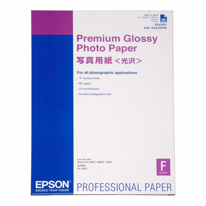 Epson Premium Glossy Photo Paper, DIN A2, 255 g/m², 25 listova, Original [C13S042091]