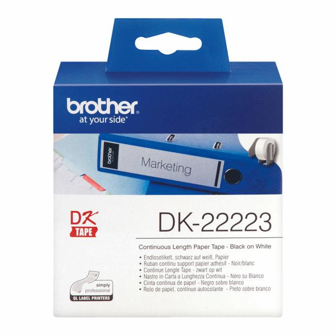 Brother naljepnice DK-22223, bijela rola s crnim ispisom, širina 50 mm, dužina 30,48 m, Original [DK22223]