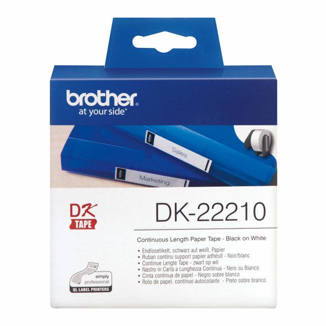 Brother naljepnice DK-22210, bijela traka, širina 29 mm, dužina 30,48 m, Original [DK22210]