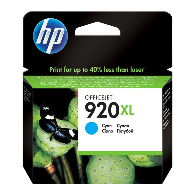 HP 920XL High Yield Cyan Original Ink Cartridge [CD972AE#BGX]
