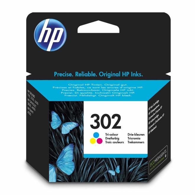 HP 302 Tri-color Original Ink Cartridge, tinta, cca 165 ispisa, Original [F6U65AE#BA3]
