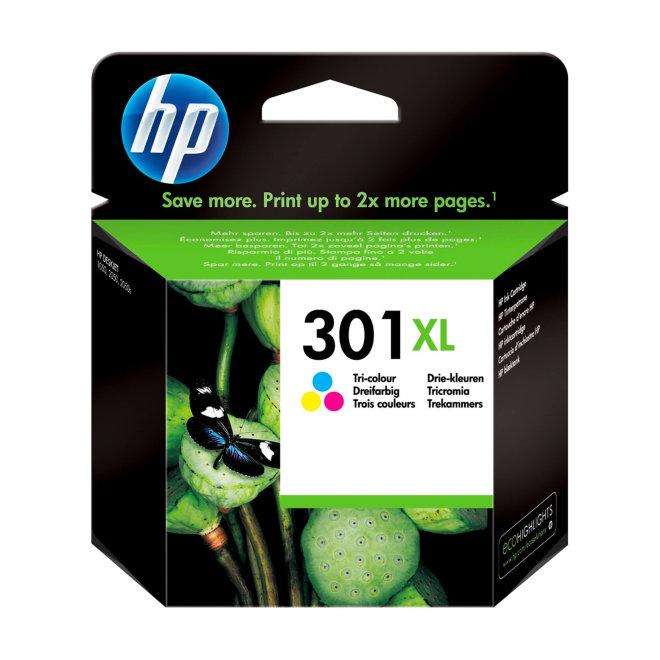 HP 301XL High Yield Tri-color Original Ink Cartridge, tinta, cca 330 ispisa, Original [CH564EE#BA3]