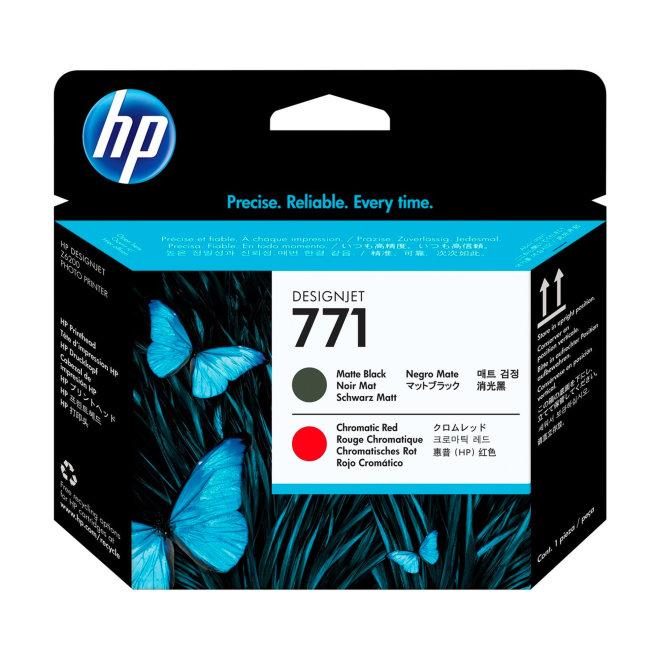 HP 771 Matte Black/Chromatic Red DesignJet Printhead / Glava, Original [CE017A]