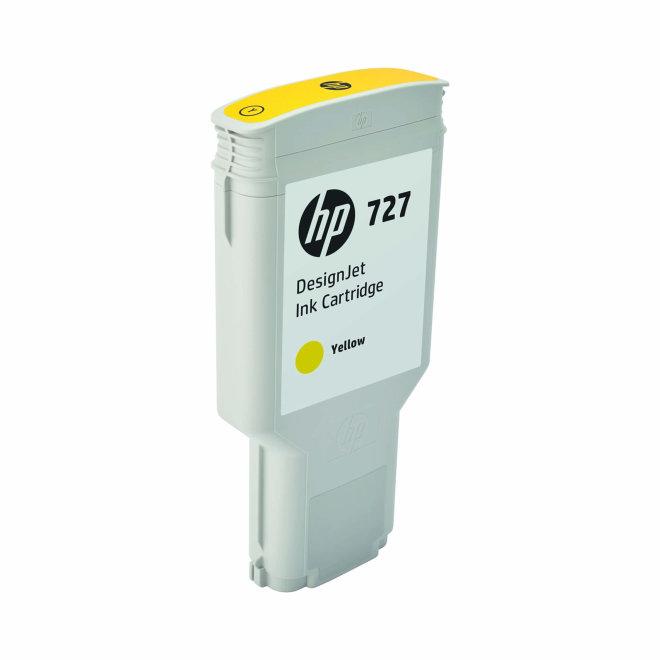 HP 727 300-ml Yellow DesignJet Ink Cartridge, Original [F9J78A]