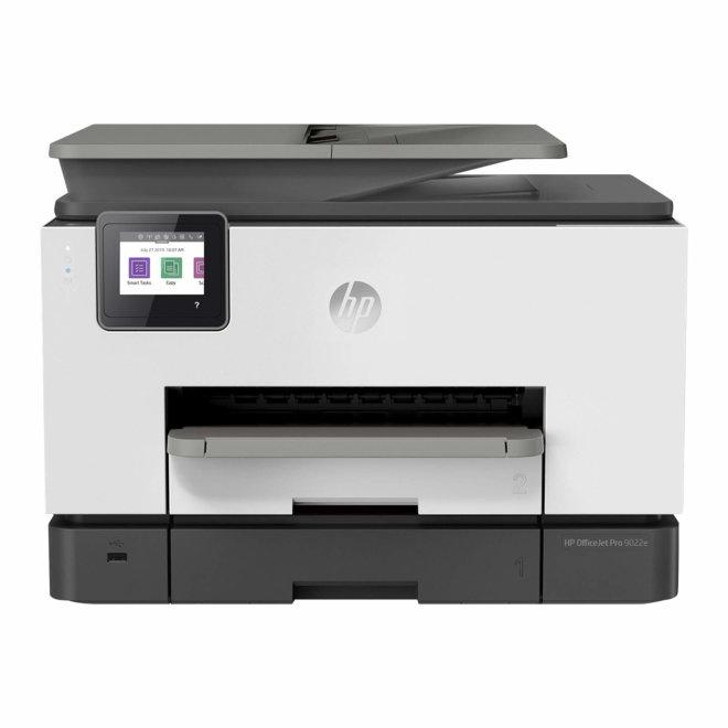 HP OfficeJet Pro 9022e All-in-One Printer, višefunkcijski pisač, tintni ispis u boji, A4, WiFi, Ethernet, USB, ADF, Duplex, 60 – 280 g/m² [226Y0B#686]