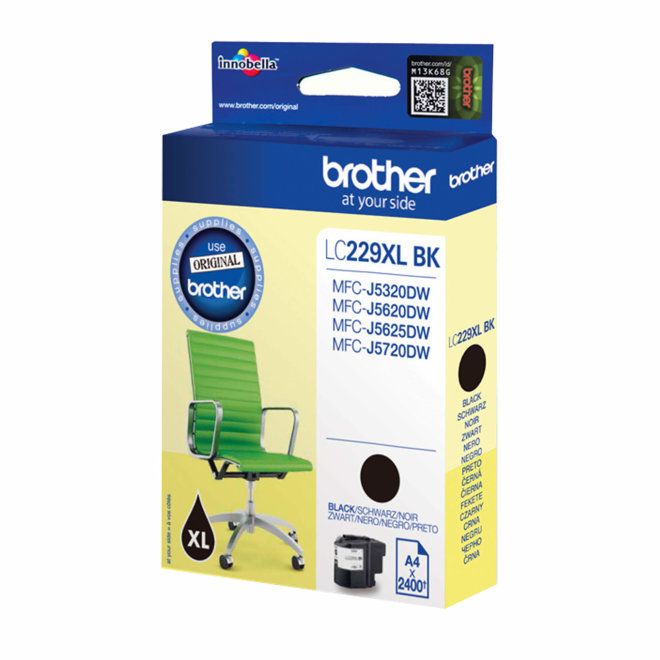 Brother tinta LC229XLBK, Black, cca 2.400 stranica, Original [LC229XLBK]