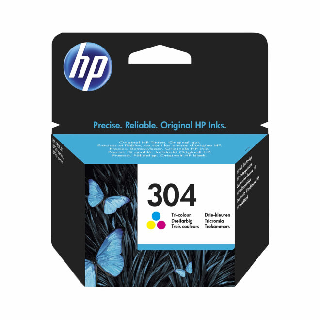 HP 304 Cyan/Magenta/Yellow Ink Cartridge, cca 100 ispisa, Original [N9K05AE]