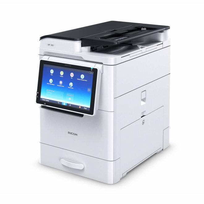 Nashuatec MP305+SPF, višefunkcijski pisač, laserski crno-bijeli ispis, A4 + A3 format, Ethernet, Dupleks, ADF, Touchscreen [417435]