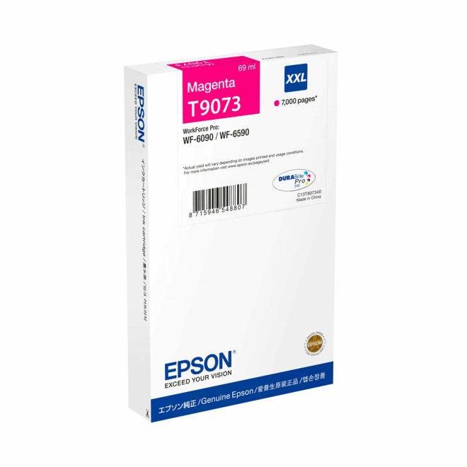 Epson T9073, WF-6xxx Ink Cartridge Magenta XXL, tinta, cca 7.000 ispisa, Original [C13T907340]