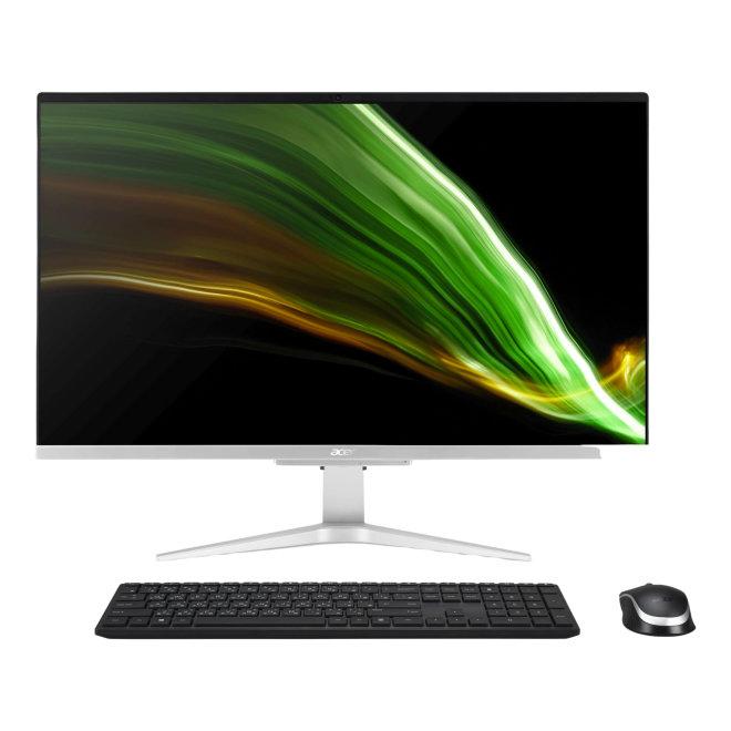 "Acer Aspire C27-1655, All-in-one, LED 27"", Core i5 1135G7, RAM 8 GB, SSD 512 GB, GF MX330, Gigabit LAN, WLAN, BT 5.0, FreeDOS, Bežična Tipkovnica + Miš, Silver [DQ.BGGEX.008]"
