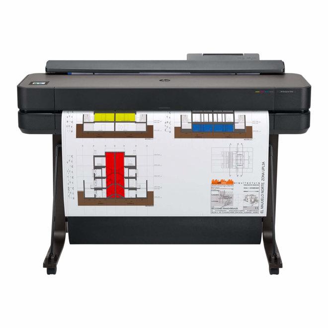 """HP DesignJet T650, Ploter + Postolje, 36"""", Kolor, Ink-jet, A0, ANSI D, Rola (91.4 cm x 45.7 m), 2400 x 1200 dpi, do 0.45 min/str, USB 2.0, LAN, Wi-Fi, 60 – 280 g/m² [5HB10A#B19]"""