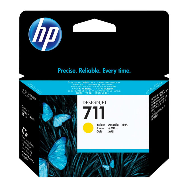 HP 711 29-ml Yellow DesignJet Original Ink Cartridge [CZ132A]