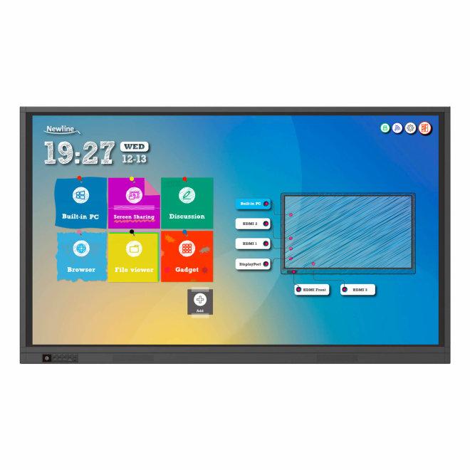 "Newline TT-7519RS+, LED interaktivni monitor, 75"", 4K, Touchscreen, Android 8.0, 3GB RAM, HDMI, VGA, WiFi [TT7519RS]"