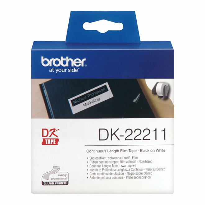 Brother DK-22211 rola s kontinuiranim poliestarskim naljepnicama, Original [DK22211]