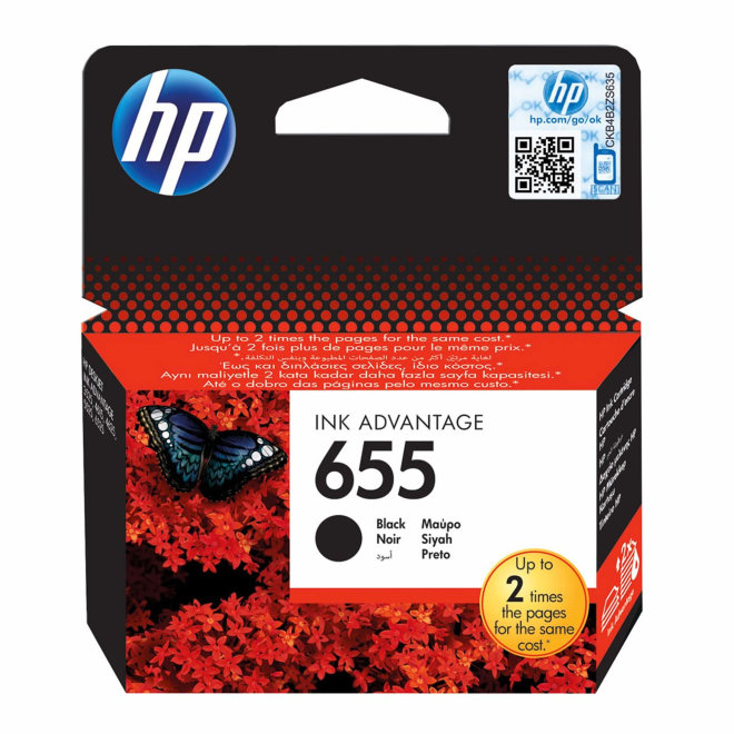 HP 655 Black Original Ink Cartridge [CZ109AE]