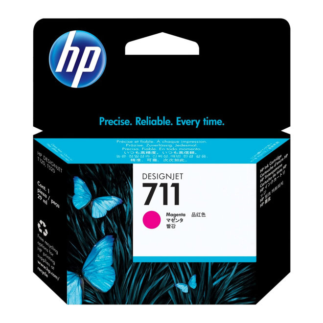 HP 711 29-ml Magenta DesignJet Original Ink Cartridge [CZ131A]