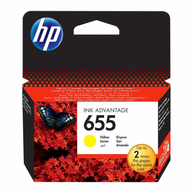 HP 655 Yellow Original Ink Cartridge [CZ112AE]