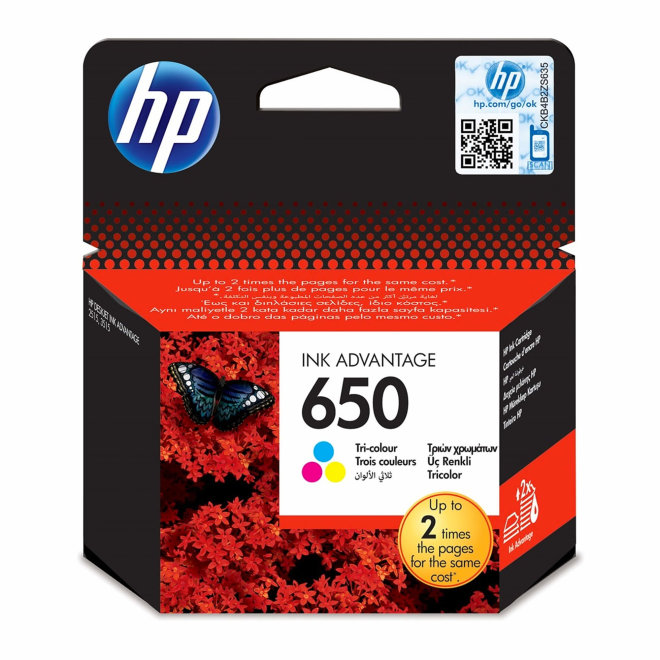 HP 650 Tri-colour Original Ink Cartridge [CZ102AE]